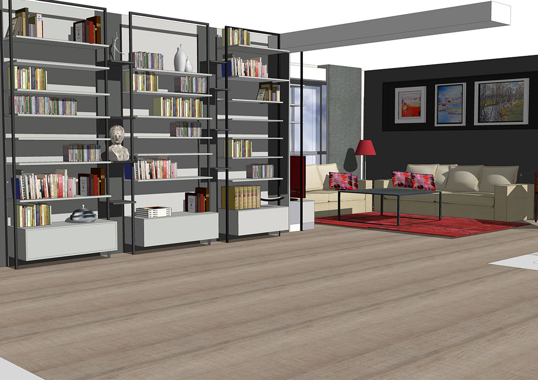 biblioth que l atelier d co architecture d int rieur. Black Bedroom Furniture Sets. Home Design Ideas
