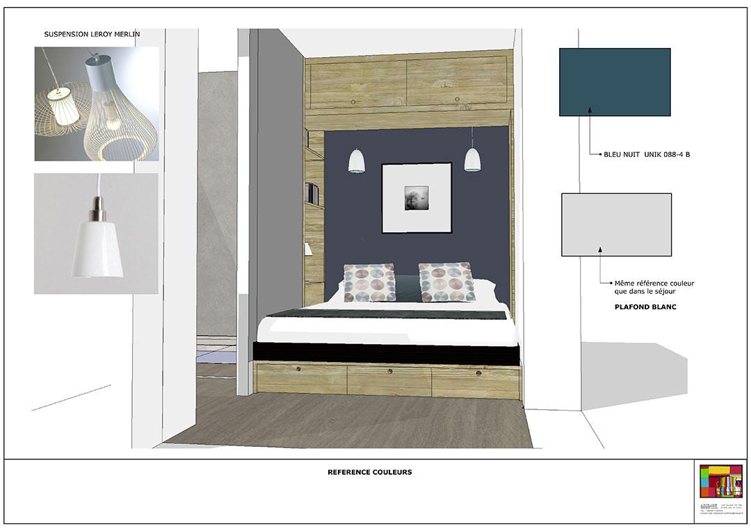 Chambre parentale - L Atelier Déco - Architecture d intérieur